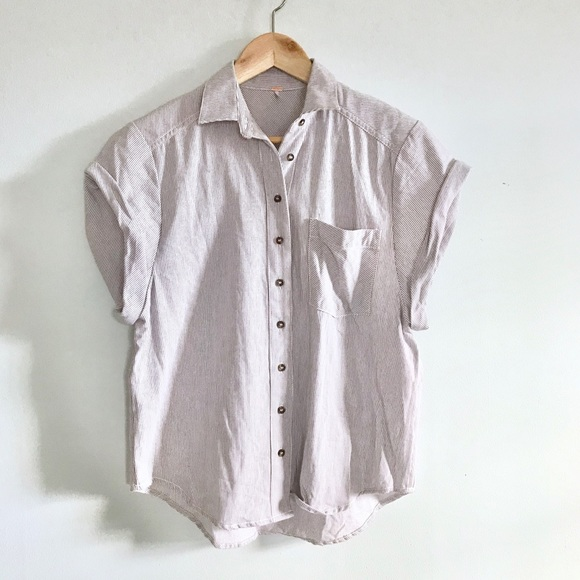89773f922fb4fd Free People Tops | Striped Button Down Shirt | Poshmark